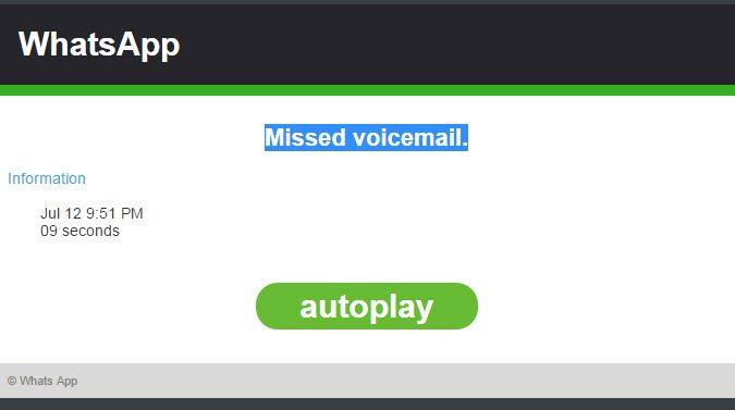'Whatsapp'ta sesli arama mesajınız var' şeklinde gelen mesajı sakın açmayın